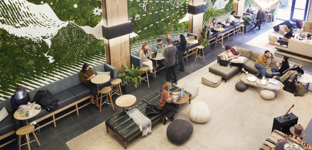 Beginning of the concept of co-working spaces