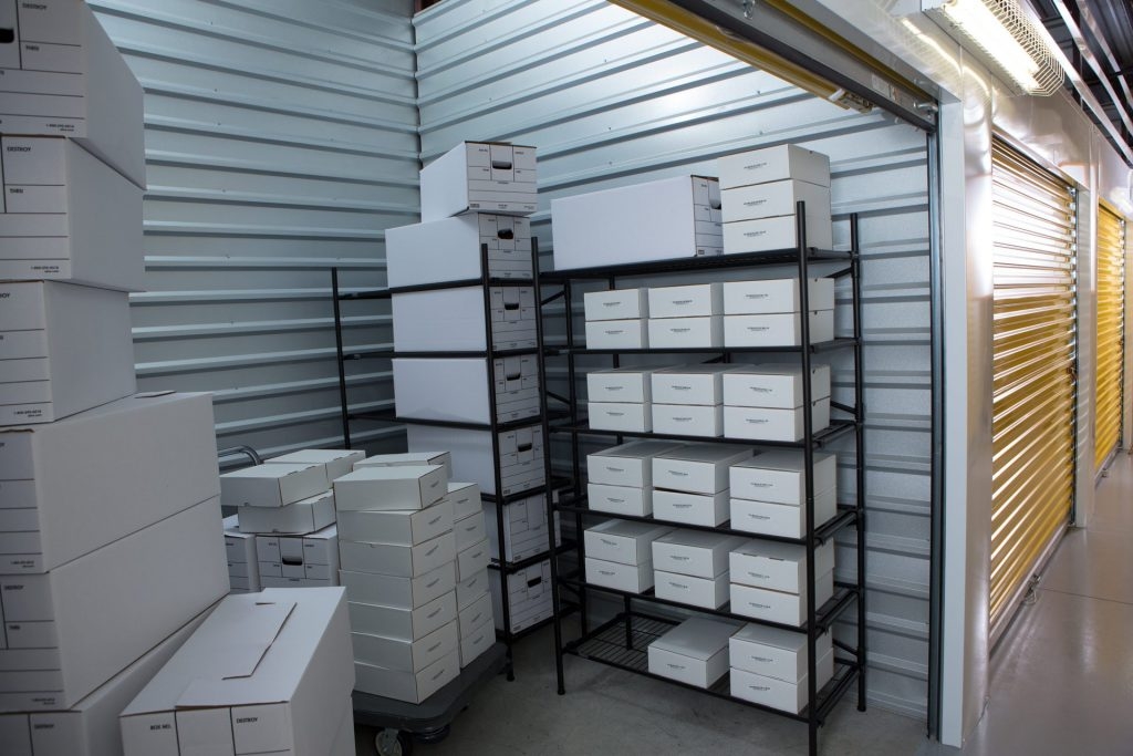Top 4 common items stored in a self-storage space
